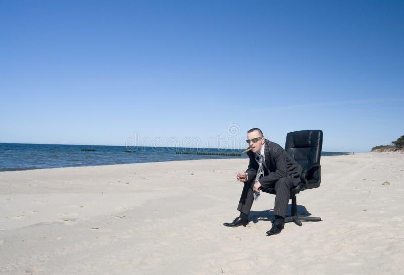 homme d'affaires de plage photographie stock