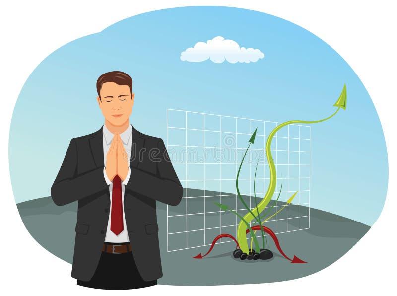 Homme d'affaires de prière illustration stock