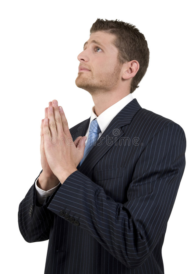 Homme d'affaires de prière image stock
