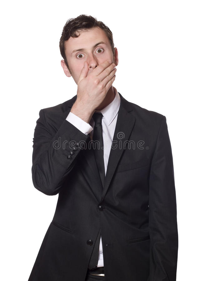 Homme d'affaires de regard effrayé images stock