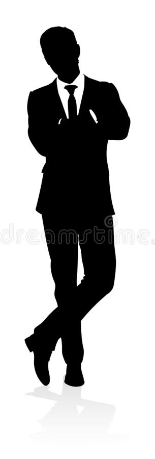 Homme d'affaires de silhouette illustration de vecteur