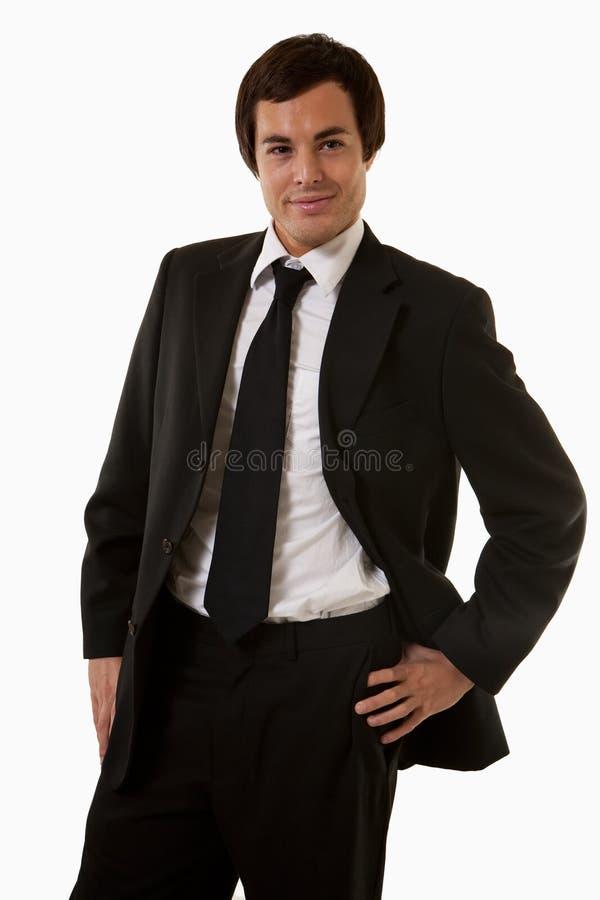 Homme d'affaires de Smililng photo stock