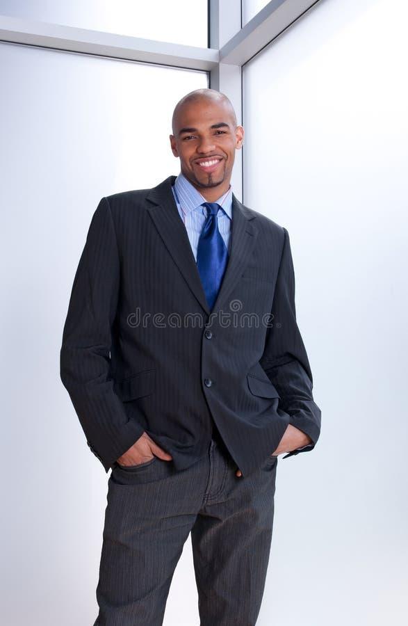 Homme d'affaires de sourire bel image libre de droits