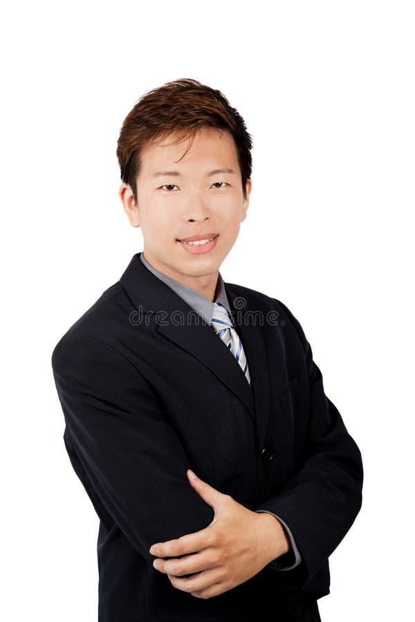 Homme d'affaires de sourire d'Asiatique jeune image libre de droits