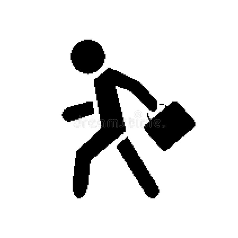 Homme d'affaires de symbole de pixel illustration libre de droits