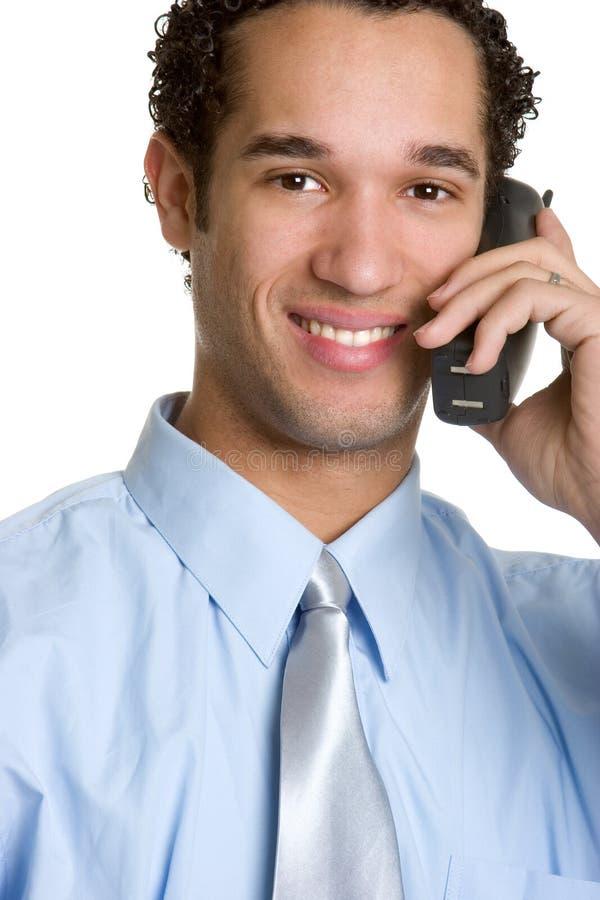 Homme d'affaires de téléphone photo stock