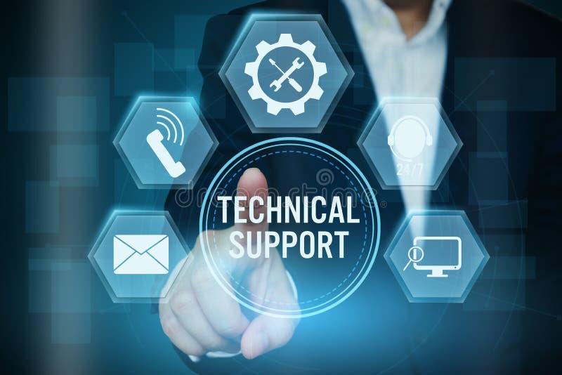Homme d'affaires dirigeant l'icône du concept de client de support technique, image libre de droits