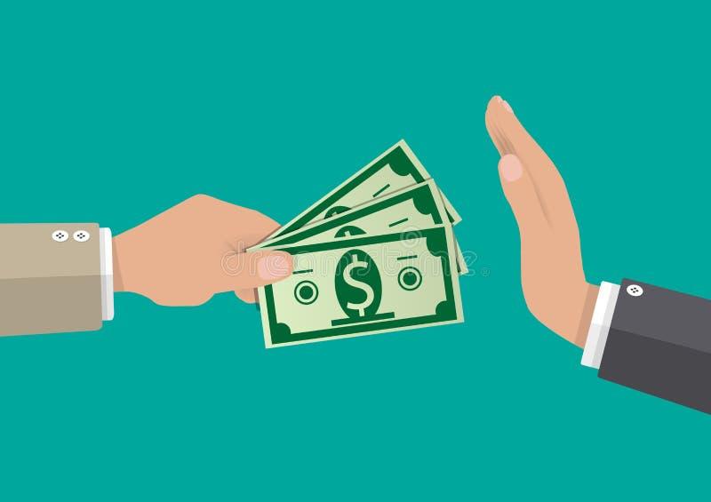 Homme d'affaires donnant l'argent à la main illustration libre de droits