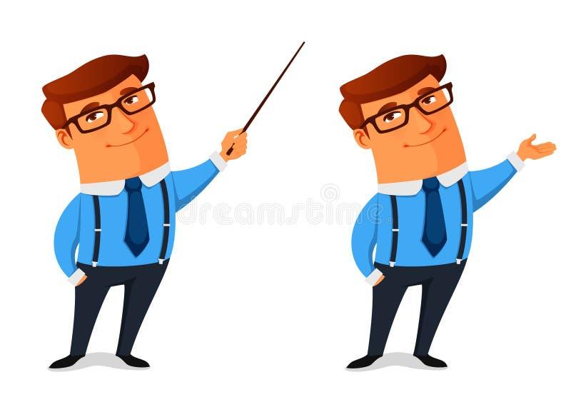 Homme d'affaires drôle de dessin animé illustration de vecteur