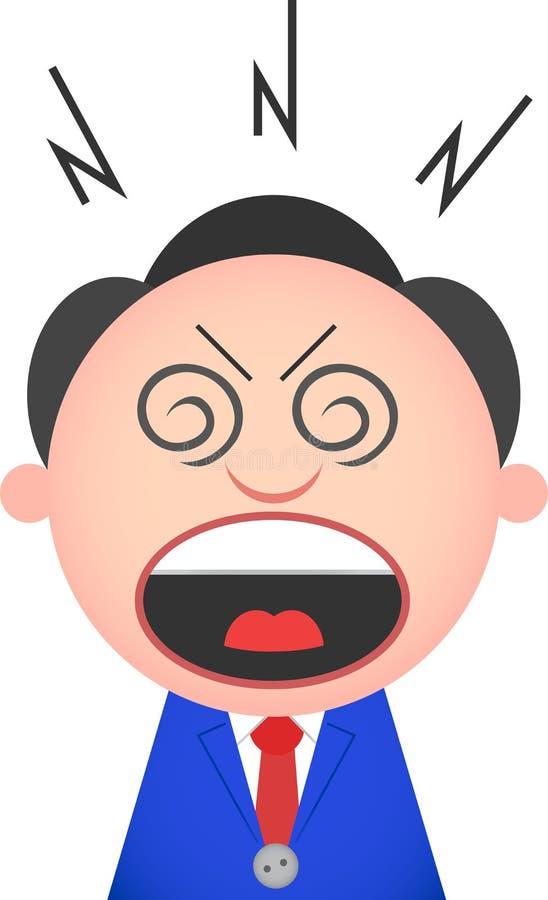 Homme d'affaires drôle Shouting illustration stock