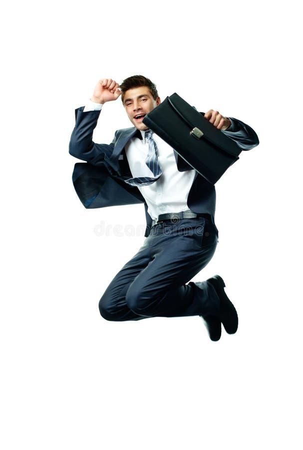 Homme d'affaires dynamique photos stock
