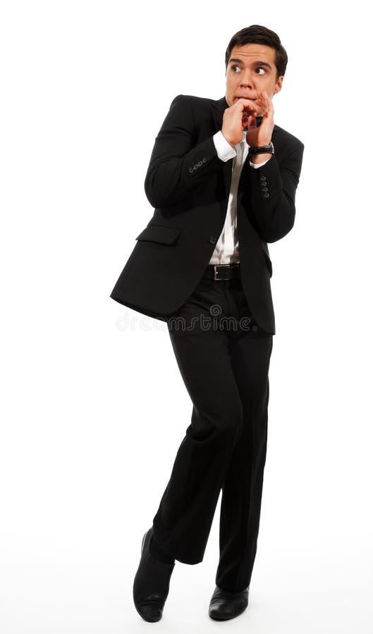 Homme d'affaires effrayé photo stock