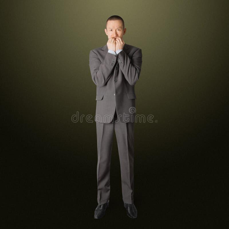 Homme d'affaires effrayé photo libre de droits