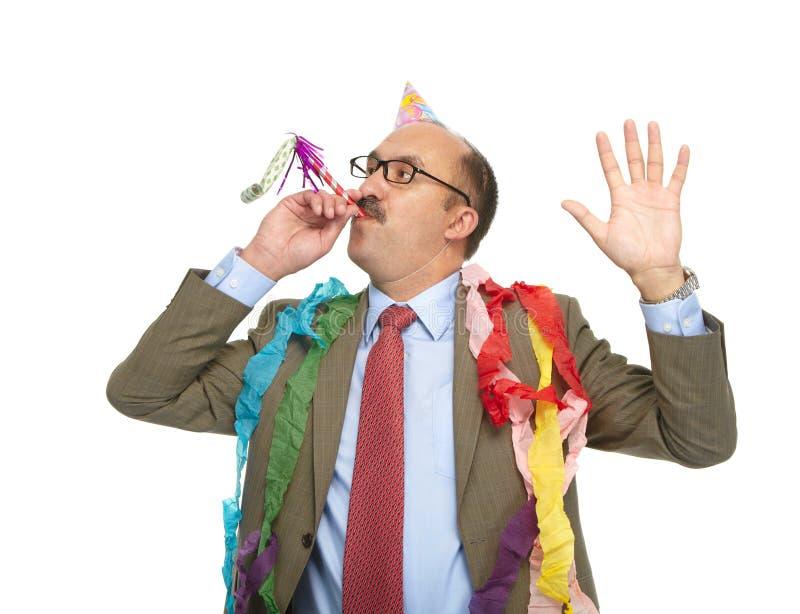 Homme d'affaires et anniversaire. photo libre de droits