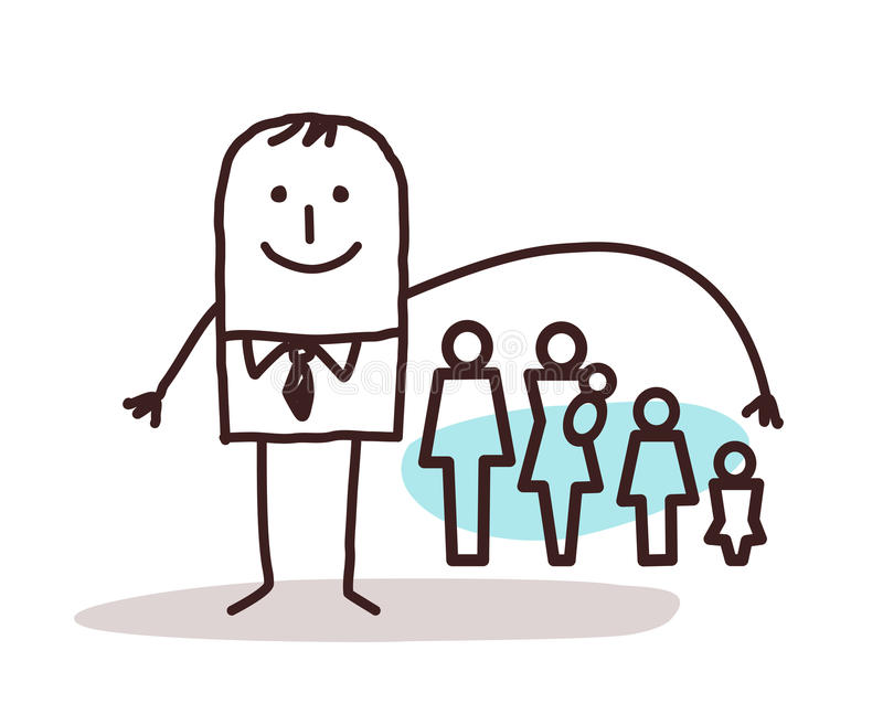 Homme d'affaires et assurance-vie illustration de vecteur