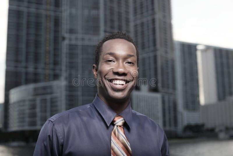 Homme d'affaires et constructions photos stock