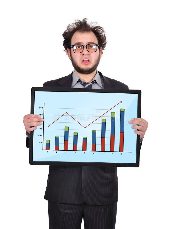 Homme d'affaires et diagramme tristes photo libre de droits