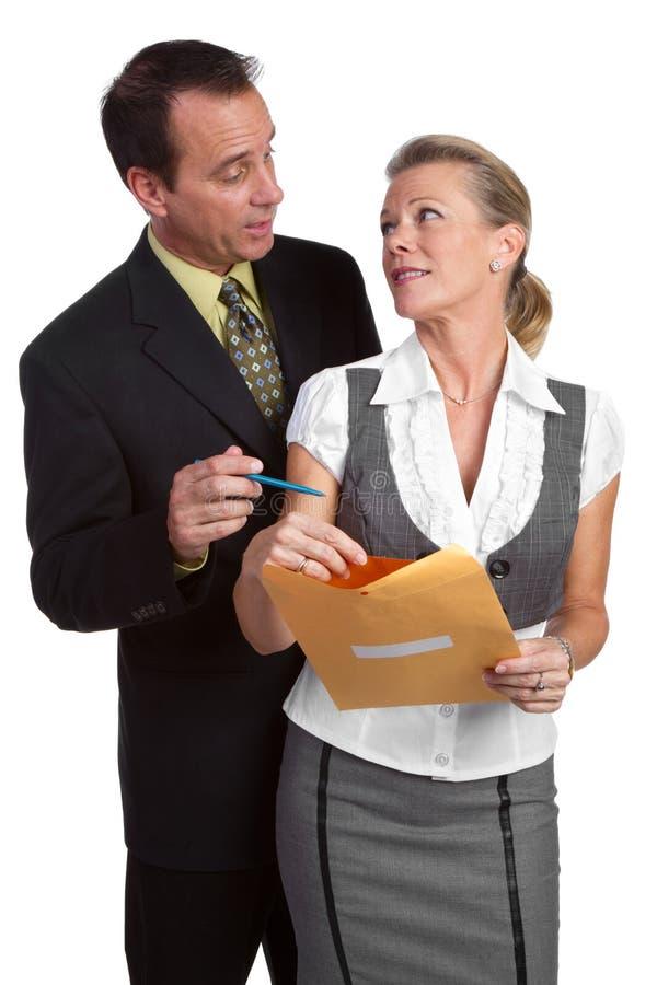 Homme d'affaires et femme d'affaires image libre de droits