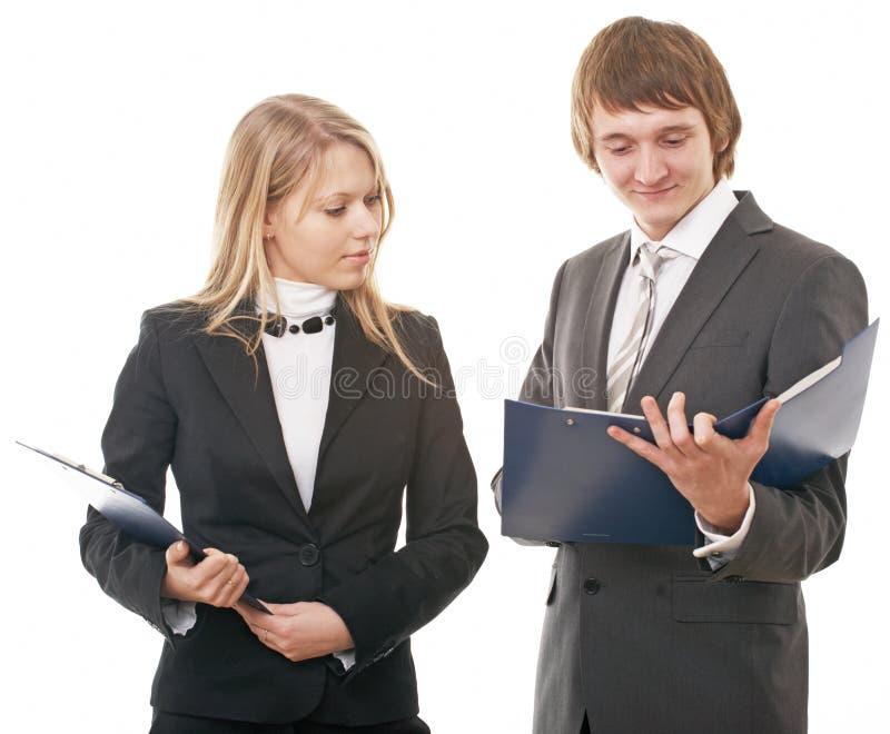 Download Homme D'affaires Et Femme D'affaires Photo stock - Image du mûr, businesswoman: 8670974