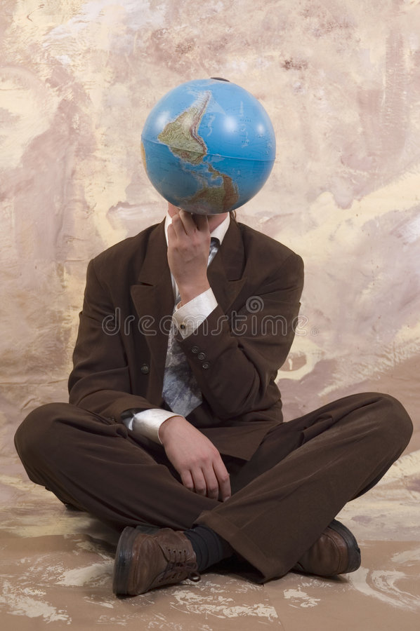 Homme d'affaires et globe photo libre de droits