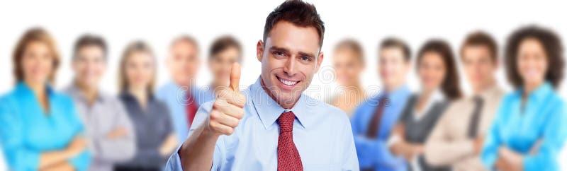Homme d'affaires et groupe de personnes heureux photo libre de droits
