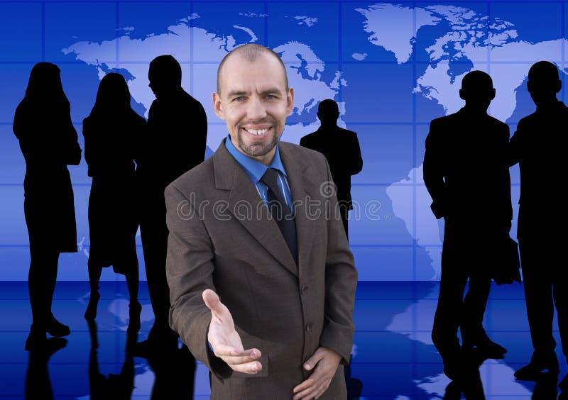 Homme d'affaires et son équipe photos libres de droits