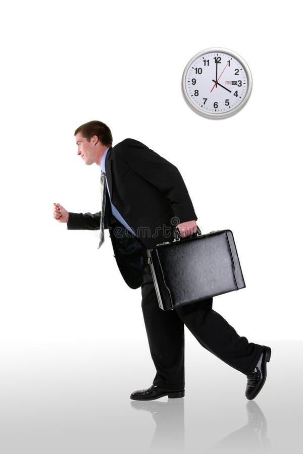 Homme d'affaires exécutant tard image libre de droits