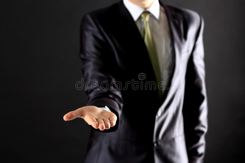 Homme d'affaires exécutant une main photo libre de droits