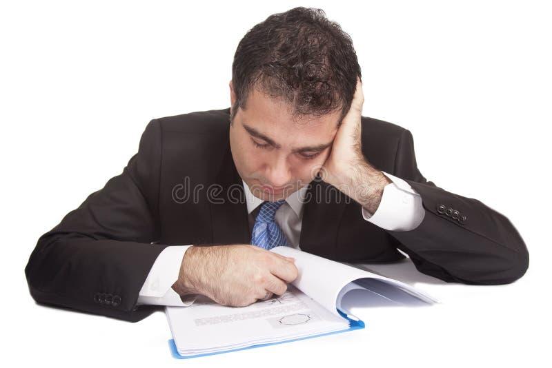 Homme d'affaires fatigué photos stock