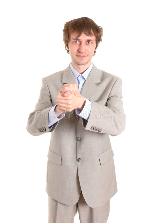 Homme d'affaires fortifié photos stock