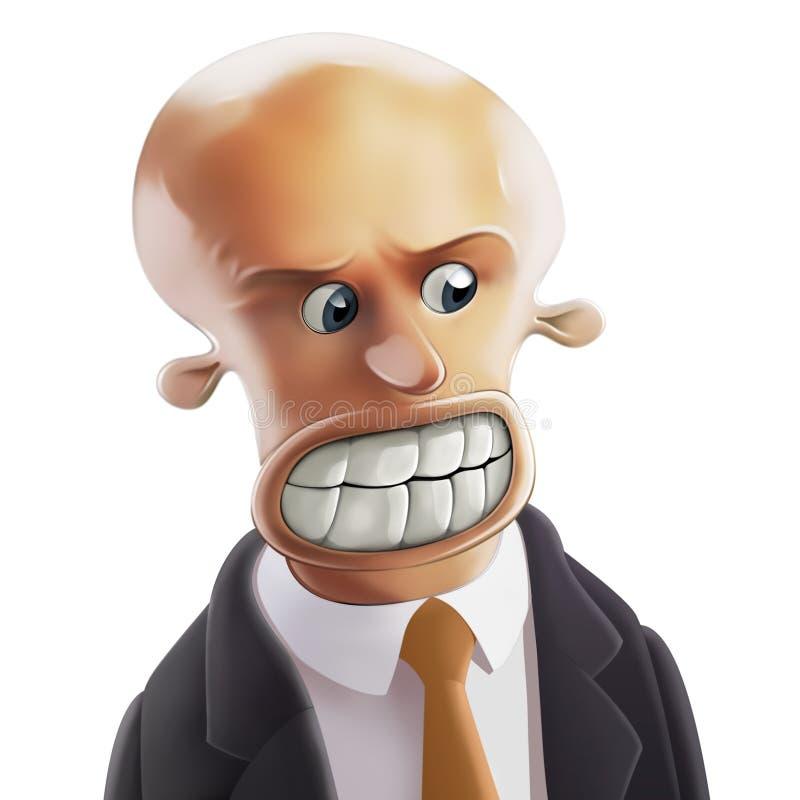 Homme d'affaires furieux illustration libre de droits