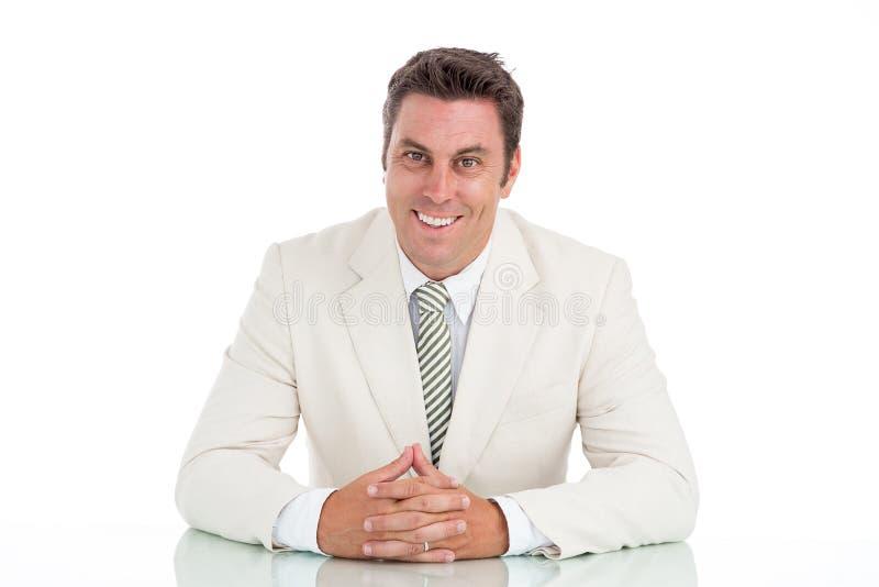 Homme d'affaires gai photos stock