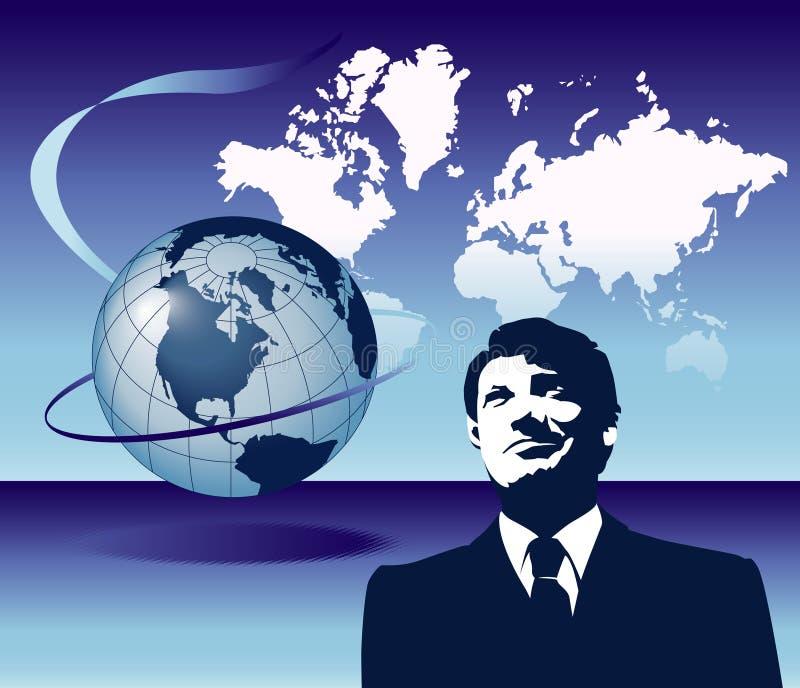 Homme d'affaires global illustration de vecteur