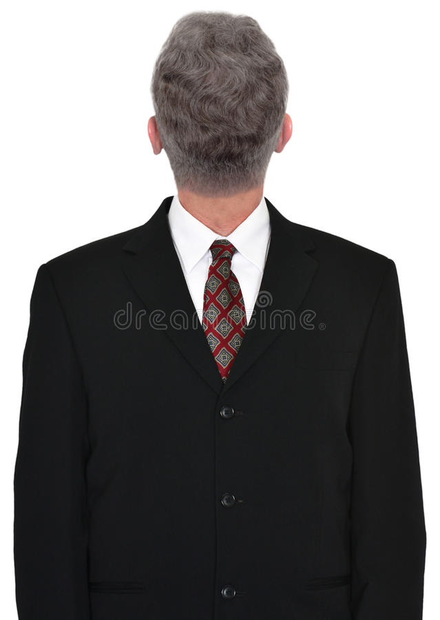 Homme d'affaires Head Backwards, affaires, d'isolement images stock