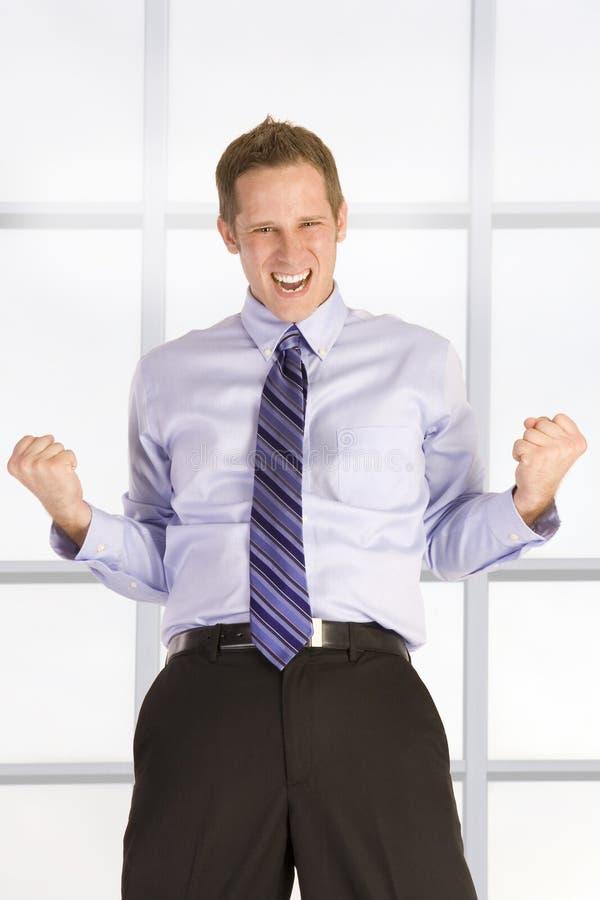 Homme d'affaires heureux images libres de droits