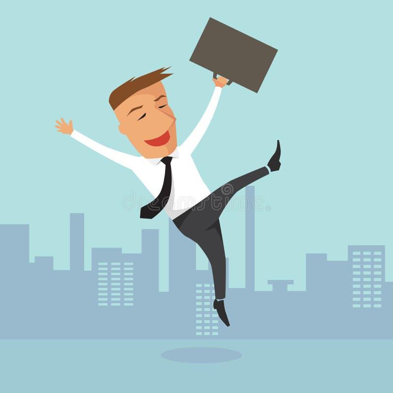 Homme d'affaires heureux. illustration libre de droits