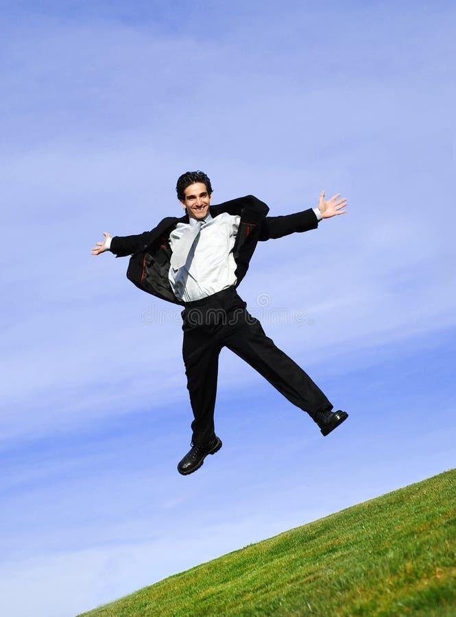Homme d'affaires heureux photo stock