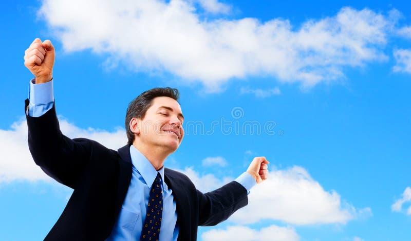 Homme d'affaires heureux photo libre de droits