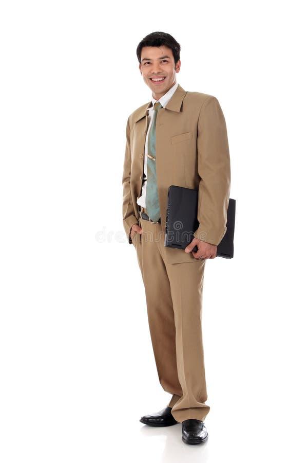 Homme d'affaires heureux asiatique image libre de droits