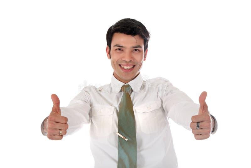 Homme d'affaires heureux asiatique photo stock