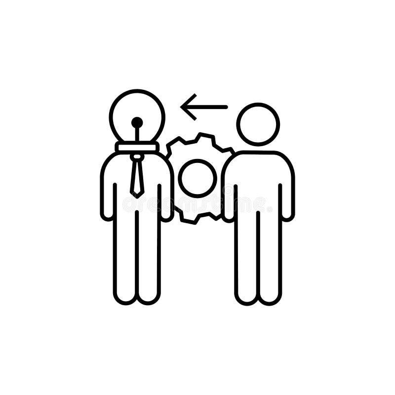 Homme d'affaires, idéal, icône de vitesse Élément d'icône d'affaires illustration stock