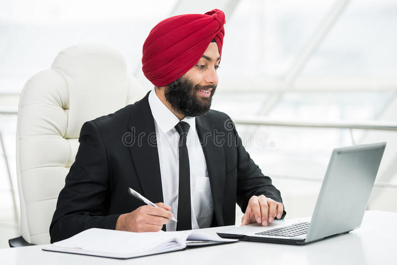 Homme d'affaires indien image stock