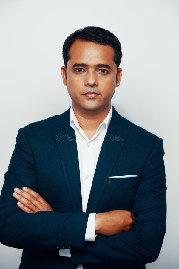 Homme d'affaires indien confiant photos libres de droits