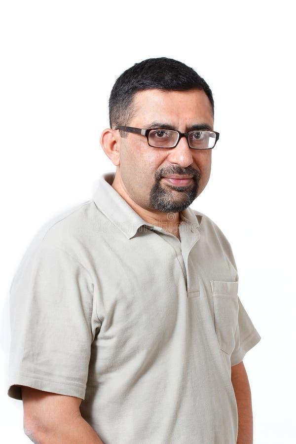 Homme d'affaires indien mûr âgé par milieu beau image stock