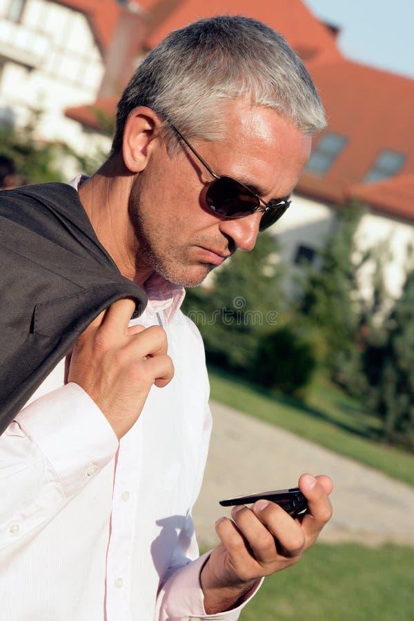 Homme d'affaires inquiété photos stock