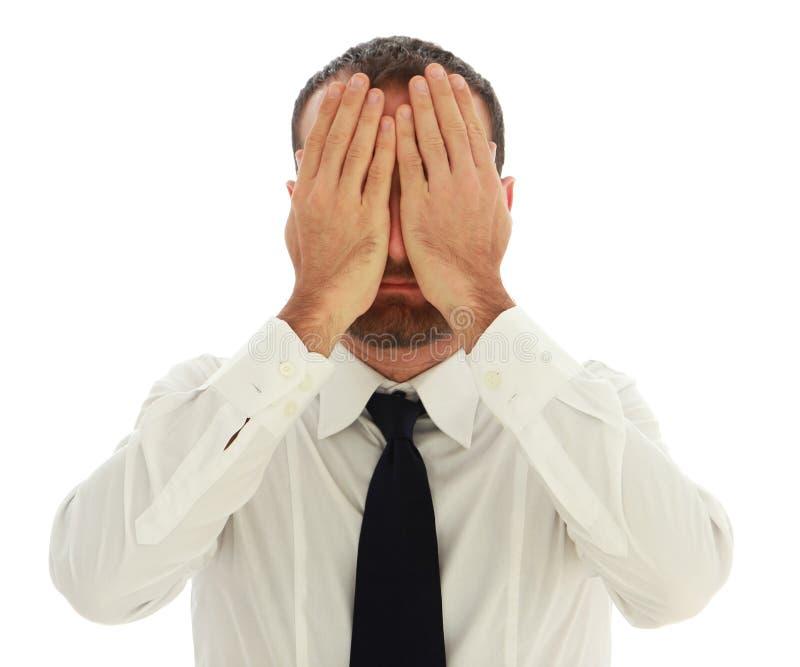 Homme d'affaires inquiété et déprimé photos stock
