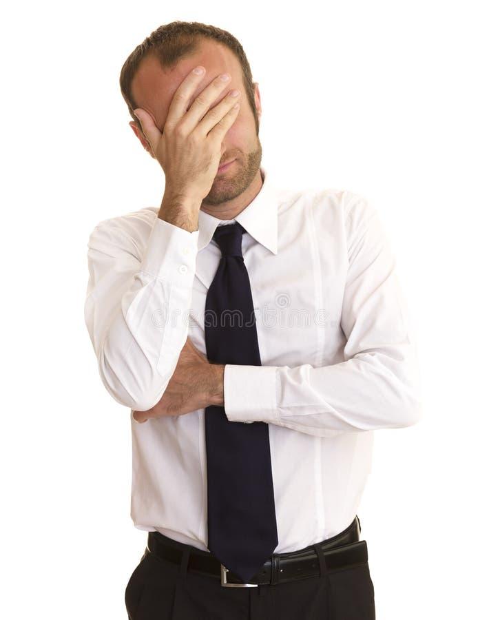 Homme d'affaires inquiété et déprimé images stock