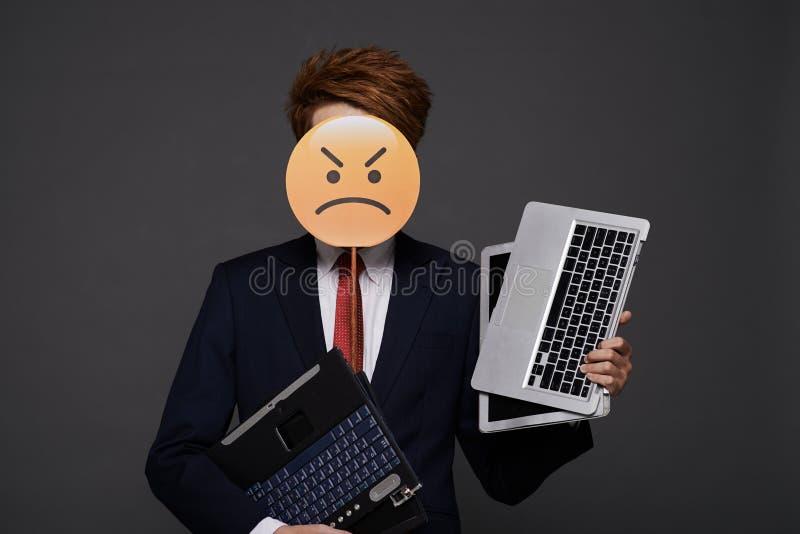 Homme d'affaires irrité photo libre de droits