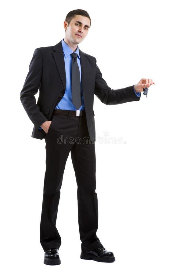 Homme d'affaires jugeant principal à la réussite photo stock
