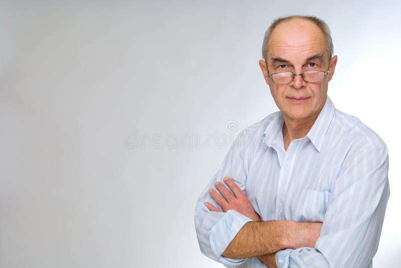 Homme d'affaires mûr en glaces photo libre de droits